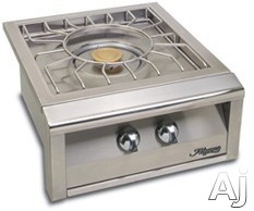 Image of Alfresco Versa Power Series AXEVPLP Built-In Versa Power Cooking System with 20,000 BTU Brass Center Burner, 45,000 BTU Outer Tube Burner, Stainless Steel Spider Grate with Removable Trivet and Optional Cart: Liquid Propane