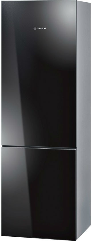 Bosch 800 Series B10CB80NVB 24 Inch Counter Depth Bottom-Freezer Refrigerator with 10.0 cu. ft. Capacity, 2 Spill Proof Glass Shelves, Gallon Door Storage, 1 Crisper Drawer and 3 Removable Freezer Drawers: Black
