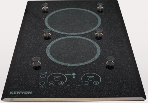 Kenyon Lite-Touch Series B41541PUPS 23 Inch Electric Cooktop with 1,800 Watt Burner, Ceramic Glass Surface,