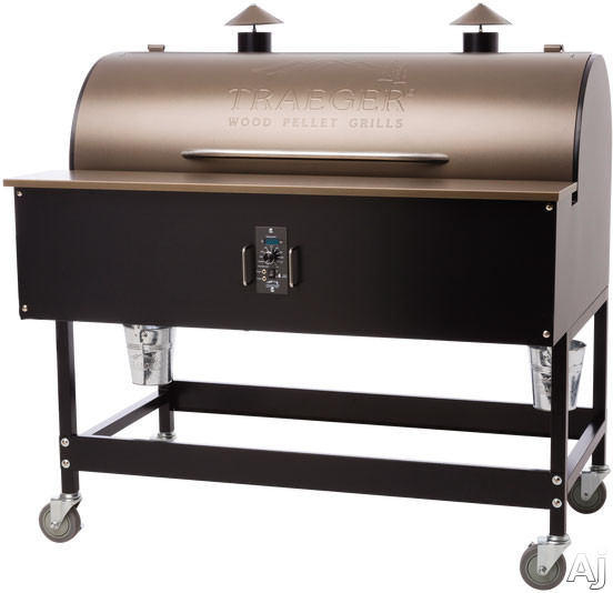 Traeger XL BBQ15001 52 Inch Freestanding Wood Pellet Grill with 836 sq. in. Grilling Area, 72,000 BTUs, Caster Legs, Meat Probes, One-Button Ignition, Convection Fan, Variable Auger, Automatic Shut Down Cycle and Optional Hardwood Pellets