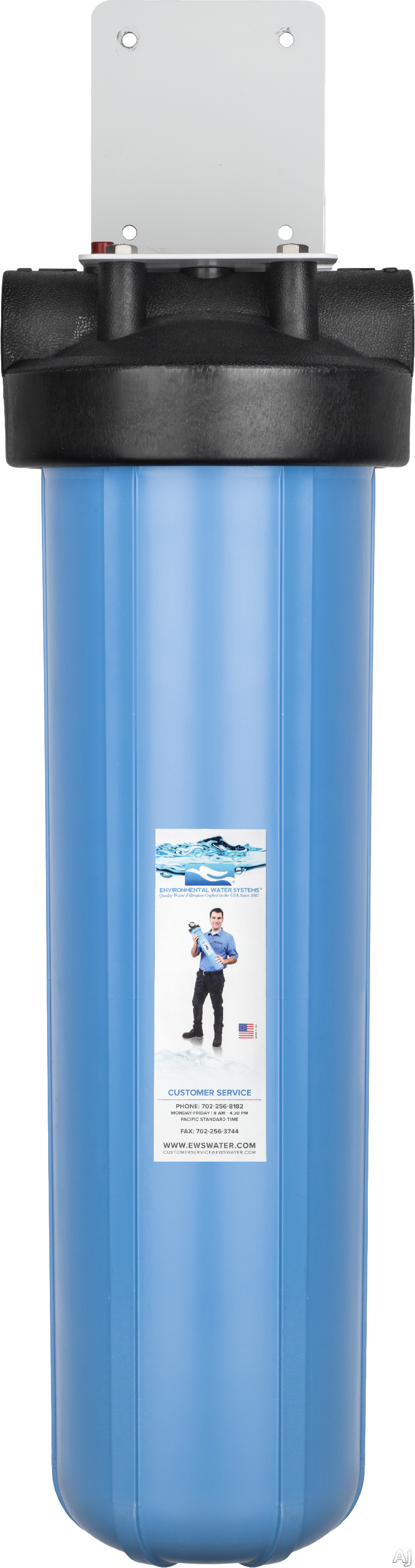 Environmental Water Systems BB112SETUP Point of Entry Pre-Sediment Cartridge Unit with 1-1/2