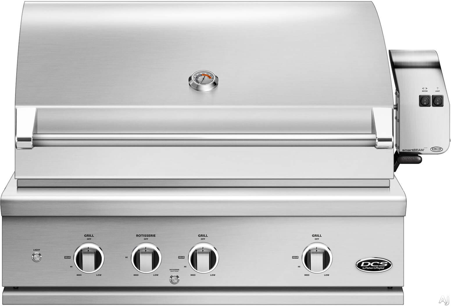 DCS Series 9 Evolution BE136RCN 36 Inch Built-In Grill with Infrared Rotisserie, Charcoal Smoker Tray, Extra Cooking Area, Easy Lift Hood, Intuitive Lighting and Rack & Tool Storage: Natural Gas