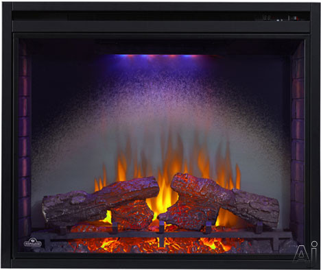 Napoleon Ascent Series BEF40H 40 Inch Indoor Electric Fireplace with 4-Color Ultra Bright LED Night Lights, Whisper Quiet Heater Fan, Glass Door and Remote Control