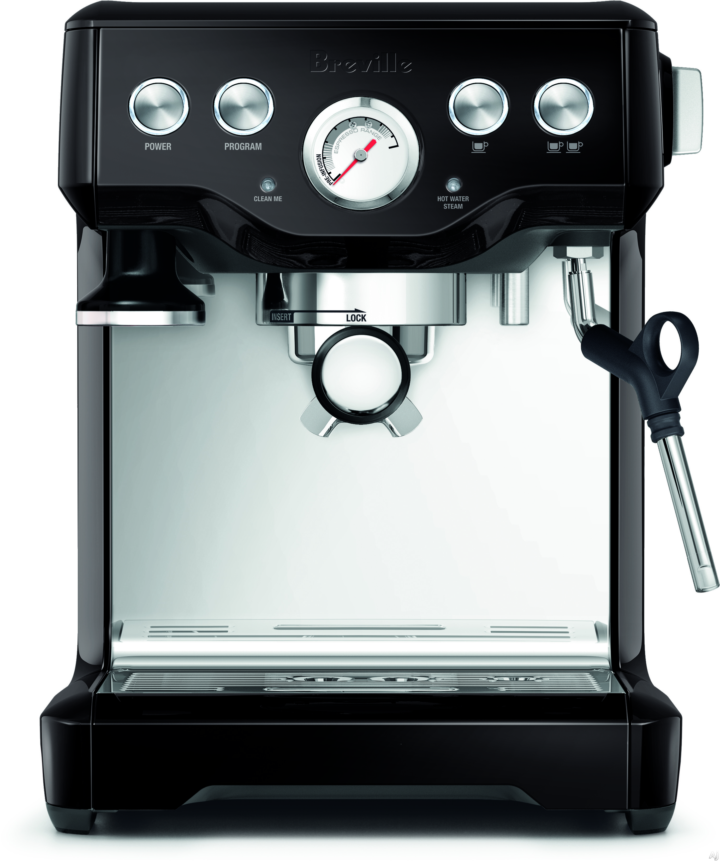 """Breville BES840BSXL Infuserâ""""¢ Espresso Machine with Electronic PID Control, High Power Thermocoil, Programmable Shot Volume, Pre-Infusion Function, Dry Puck Feature, Auto-Purge, Auto-Off, 15 Bar Pump, Removable Drip Tray, Breville Assistâ""""¢ Plug and Acc"""