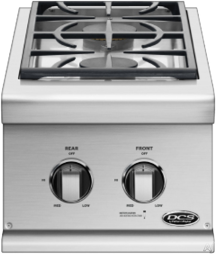 DCS BGC132BIL Double Side Burner with 2 17,000 BTU Sealed Burners, Stainless Steel Construction for Built-in Installation: Liquid Propane