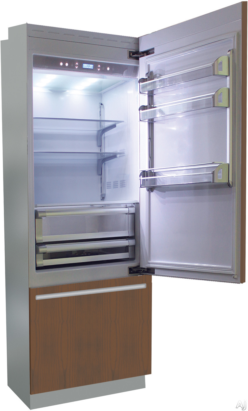 Fhiaba Brilliance Series BI30BIRO 30 Inch Panel Ready Built-In Bottom Freezer Refrigerator with TriMode Drawer, Frost-Free Operation, Soft Closing System, LED Lighting, Bottle Cooler and Ice Maker: Ri