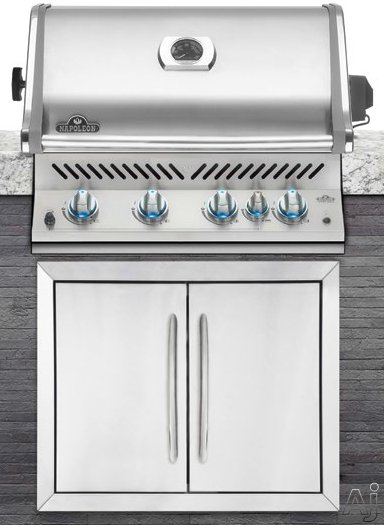 Napoleon Built-In Series BIPRO500RBNSS1 32 Inch Built-In Grill with 66,000 BTUs, 760 sq. in. Cooking Space, 5 Burners incl. Infrared Rotisserie Burner, Rotisserie Kit, JETFIRE Ignition and Removable Warming Rack: Natural Gas BIPRO500RBNSS1