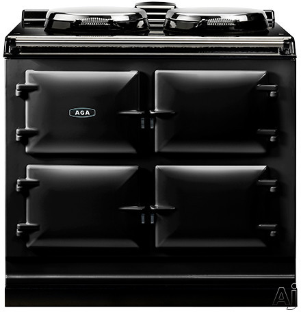 AGA ADC3EBLK 39 Inch Freestanding Electric Cooker with Boiler Hot Plate Simmering Hot Plate Roasting Oven Baking Oven Slow Cook Oven and Insulated Covers Black