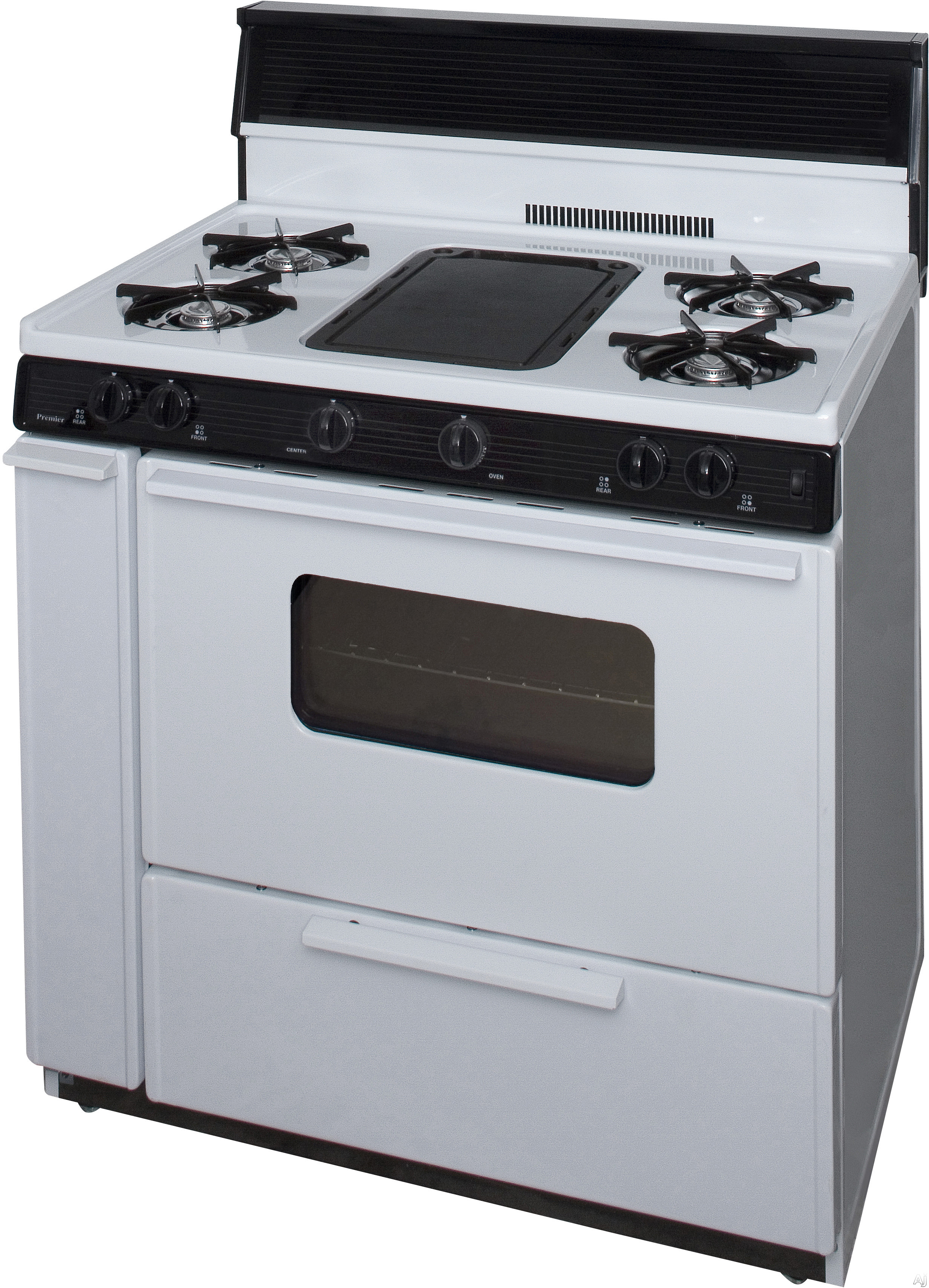 Premier blk5s9wp 36 freestanding gas range with 5 burners for 17000 btu window air conditioner