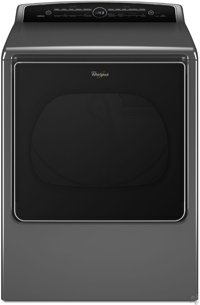 Whirlpool Cabrio WED8500D 29 Inch 8.8 cu. ft. Electric Dryer with 23 Dry Cycles, 5 Temperature Selections, Steam, EcoBoost, Sanitize Cycle, Static Reduce Option, Quiet Dry Noise Reduction System, Advanced Moisture Sensing, Quad Baffles and Energy Star Rat