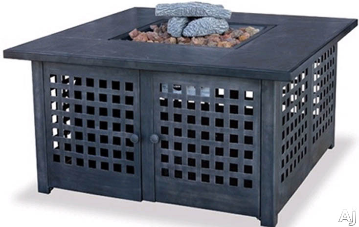 Blue Rhino GAD920SP 41 Inch Square Liquid Propane Gas Outdoor Fireplace with 40,000 BTU Power, Handcrafted Tile Mantel, Multi-Spark Electronic Ignition and Hidden Control Panel