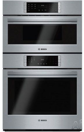 Bosch 800 Series HBL87M52UC 30 Inch Microwave Combination Oven with 10 Sensor Cooking Programs, QuietClose Door, Meat Probe, Convection, Fastpreheat, Incandescent Lighting and Sabbath Mode, Installs F