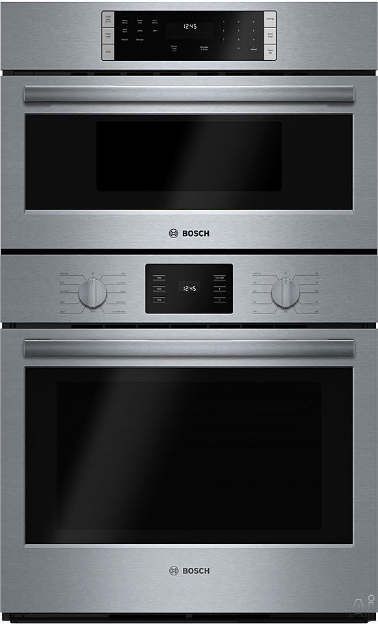 Bosch 500 Series Hbl57m52uc 30 Inch Combination Oven With Convection, Sensor Cooking, Self-clean, 6.2 Cu. Ft. Capacity, 950w Microwave With Glass Turntable, Popcorn Setting, Pizza Setting And Installs Flush With Cabinetry