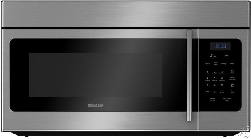 Image of Blomberg BOTR30100SS 30 Inch Over-the-Range Microwave Oven with Auto Cook, 2 Speeds, 300 CFM, 1.5 cu. ft. Capacity and Add 30 Seconds Option