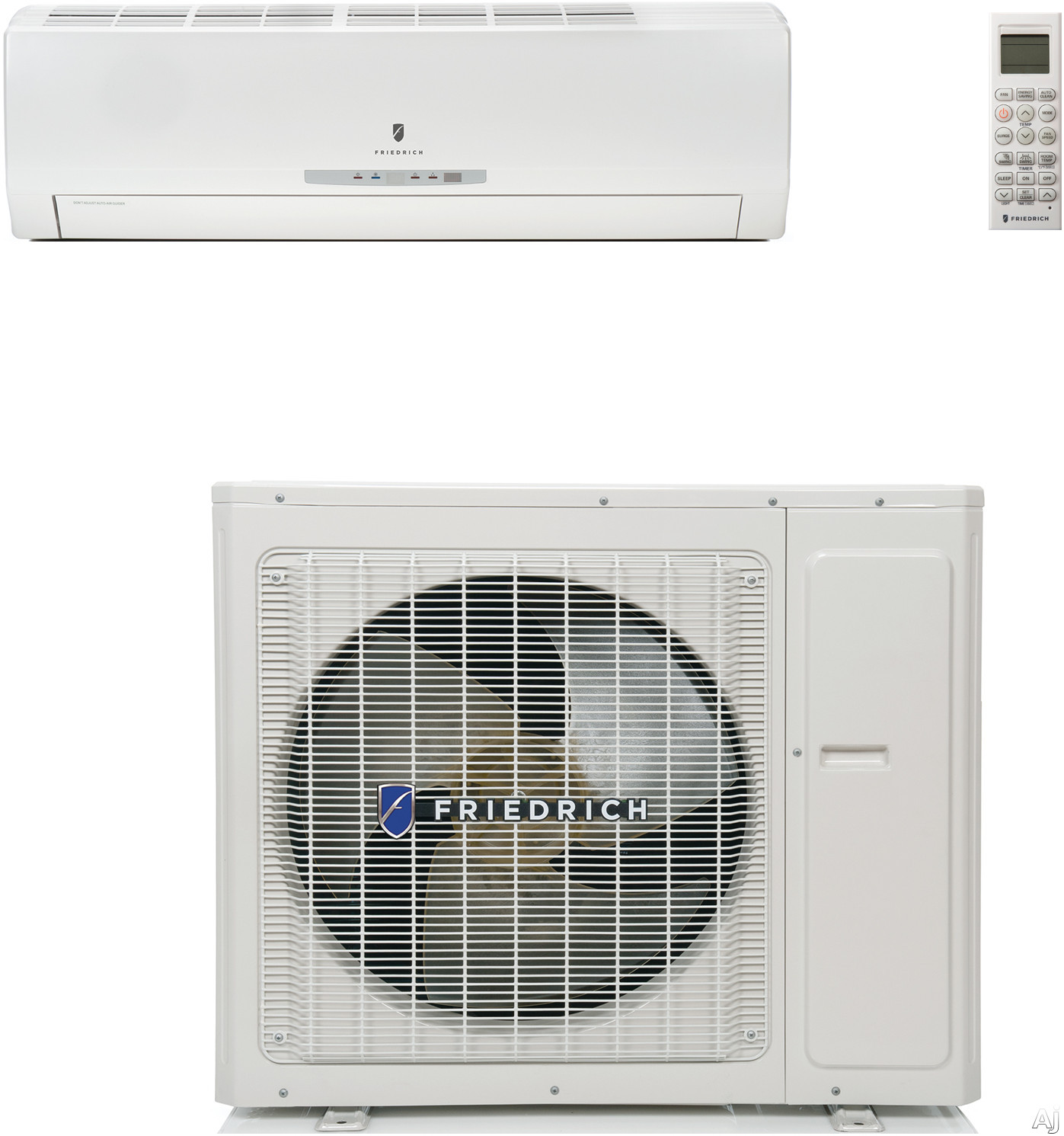 Friedrich Breeze Series BR1224W3A 12 000  24 000 BTU Single Zone Wall Mount Ductless Split System with Up To 25 000 BTU Heat Pump 116 EER 178 SEER Quick Connect Line Sets and Thru the Wall Window Installation