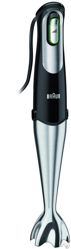 Braun MQ725 MultiQuick 7 Hand Blender with Smart Speed, EasyClick, Slip-Proof Grip, PowerBell Technology, Accessories, Stainless Steel Blades and Silent DC Motor