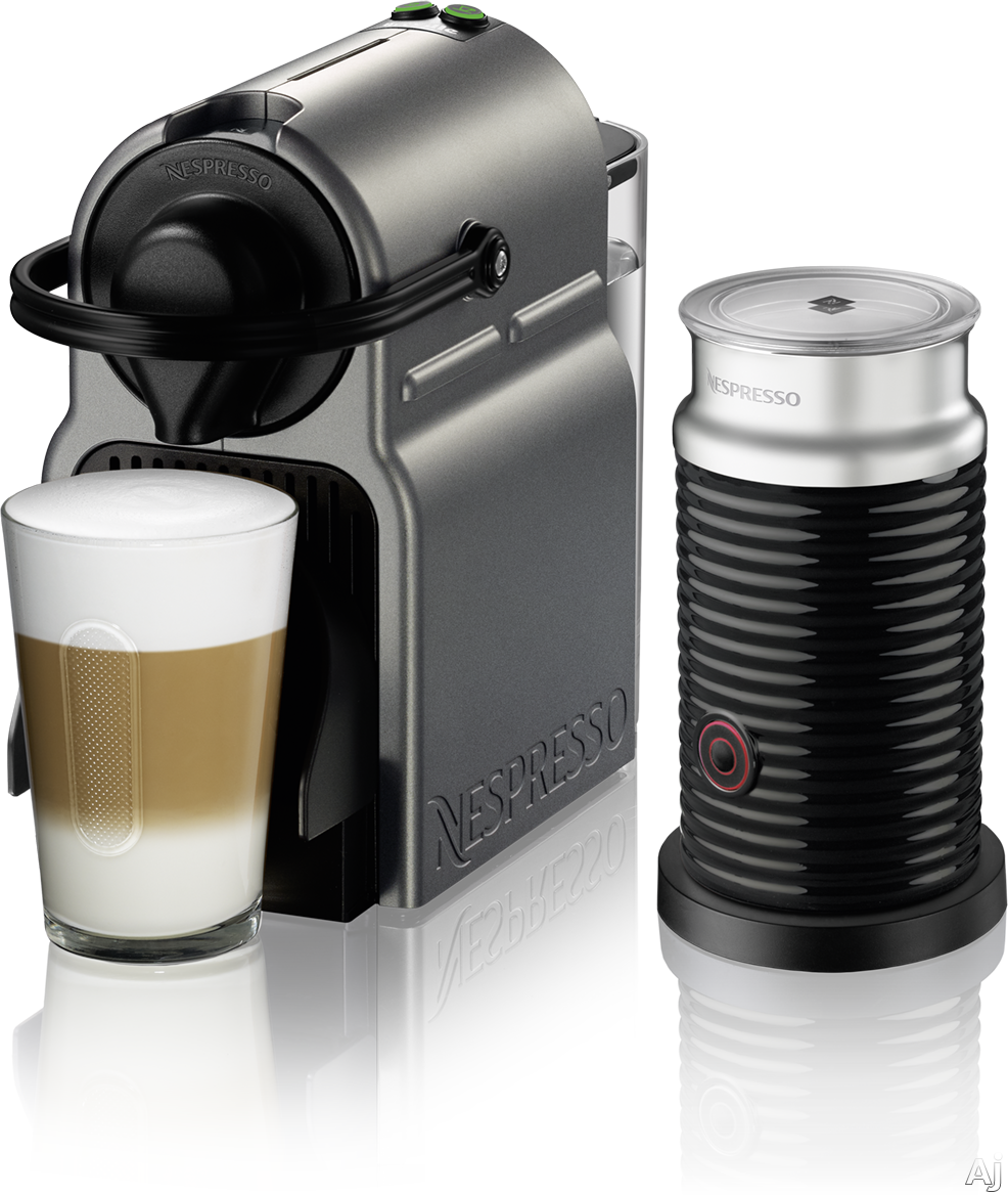 Nespresso Original Line BEC150TTN1AUC1 Inissia Espresso Machine and Milk Frother with 2 One Touch Presets, Fast Preheat, Auto Power-off, 16 Nespresso Capsule Tasting Pack, Folding Drip Tray, Auto Volu