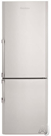Blomberg BRFB1042SSN 106 cu ft Counter Depth Bottom Freezer Refrigerator with 2 Adjustable Shelves 3 Freezer Drawers Dual Evaporators and White LED Lighting Stainless Steel