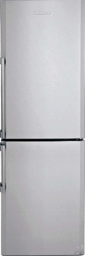 Blomberg BRFB1312SS 24 Inch Counter Depth Bottom Freezer Refrigerator with Glass Shelves Wine Rack Tall Bottle Door Bins 3 Internal Freezer Drawers Dual Evaporators hygION Anti bacterial Silver Interior and ENERGY STAR Certification No Ice Maker