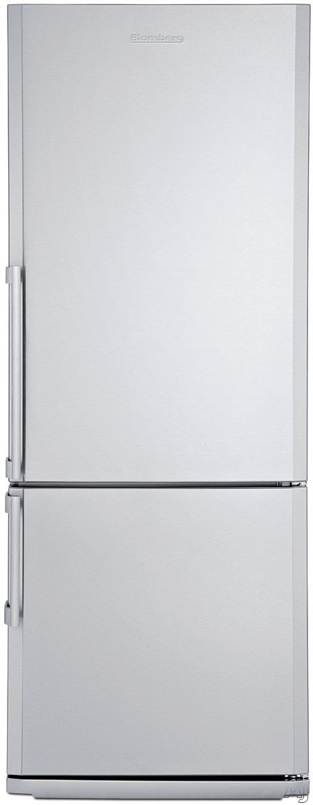 Blomberg BRFB1452SSN 28 Inch Counter-Depth Bottom-Freezer Refrigerator with 3 Glass Shelves, 2 Produce Drawers, Antibacterial Interior, Reversible Door and Energy Star Certified