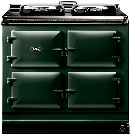 AGA ADC3EBRG 39 Inch Freestanding Electric Cooker with Boiler Hot Plate Simmering Hot Plate Roasting Oven Baking Oven Slow Cook Oven and Insulated Covers British Racing Green
