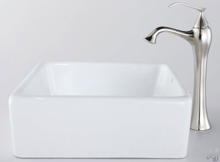 Square Ceramic Sink and Ventus Faucet