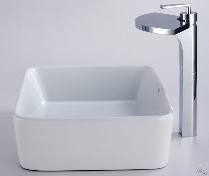 Rectangular Ceramic Sink with Fantasia Faucet