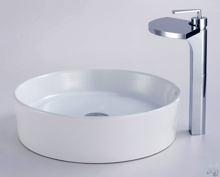 Round Ceramic Sink and Fantasia Faucet