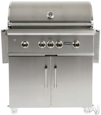 Image of Coyote C1CH36CT 36 Inch Cart for Coyote Charcoal Grills