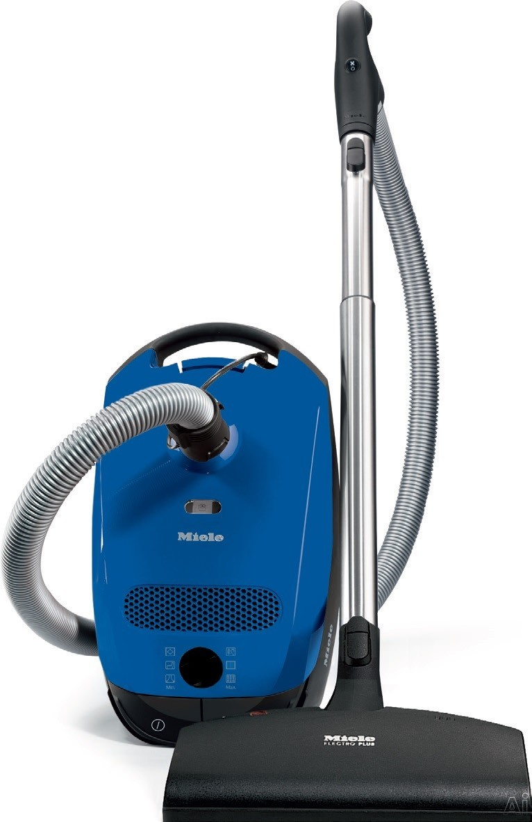 Miele Classic C1 Series 41BAN032USA Classic C1 Delphi Canister Vacuum Cleaner with 1,200-Watt Vortex Motor, 6 Variable Suction Settings, AirClean Sealed System with AirClean Filter, FilterBag with Change Indicator, ElectroComfort Floor Brush and 29.5 Ft.