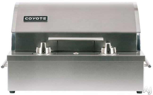 Coyote C1EL120SM 18 Inch Built in Electric Grill with Ceramic Flavorizer, 5,000 Hour Element, Safety Timer and 156 sq. in. Cooking Area and Grill Cover