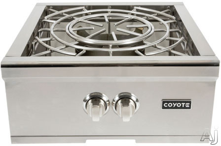 Coyote C1pbng 24 Inch Built-in Power Burner With 60,000 Total Btu, Dual-valve Burner, 1,000 Btu Simmer Performance, 304 Grade Stainless Steel Body And Stainless Steel Lid: Natural Gas