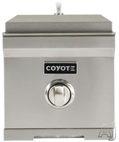 Coyote C1SBNG 11 Inch Built-in Single Side Burner with 15,000 BTU Brass Burner, Stainless Steel Body and Stainless Steel Lid: Natural Gas