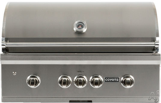 Coyote S-Series C1SL36LP 36 Inch Built-in Gas Grill with 875 sq. in. Cooking Area, 95,000 Total BTU, 3 High Performance Infinity Burners, RapidSear Burner, Rear Infrared Burner, Heat Control Grids, LE