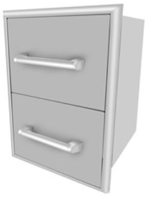 Coyote C2DC 16 Inch 2 Drawer Cabinet