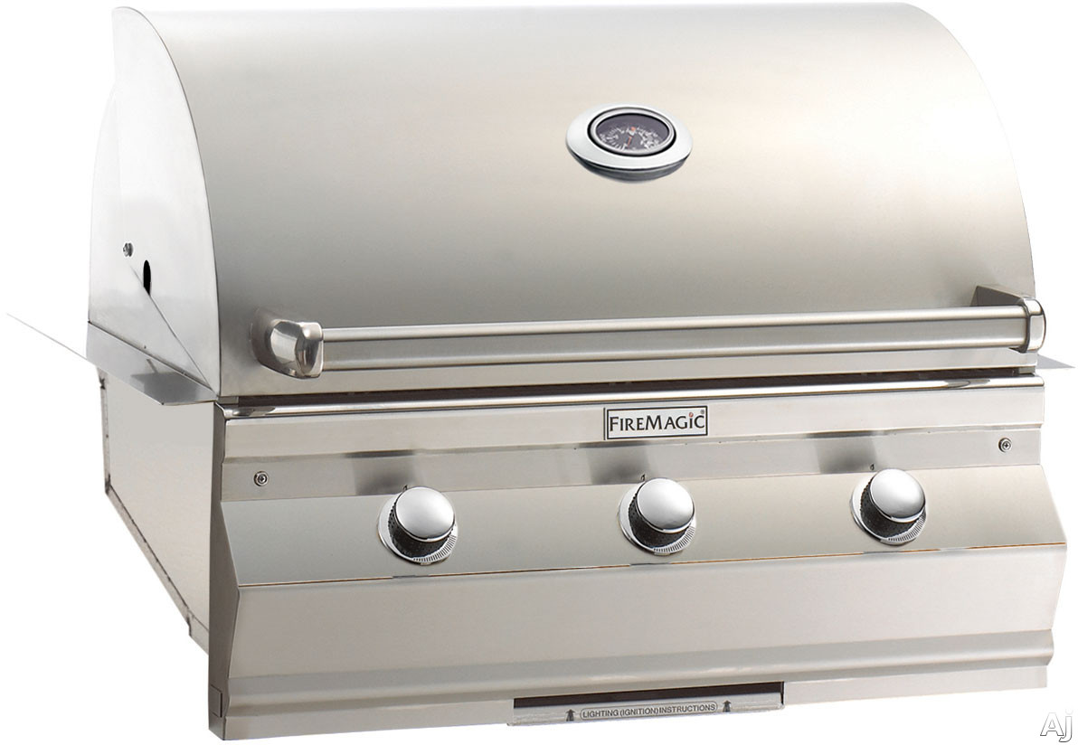 Image of Fire Magic C540I1T1 36 Inch Built-in Gas Grill with 540 sq. in. Cooking Surface, 60,000 BTU Stainless Steel Burners, 16-Gauge Stainless Steel Flavor Grids and Analog Thermometer
