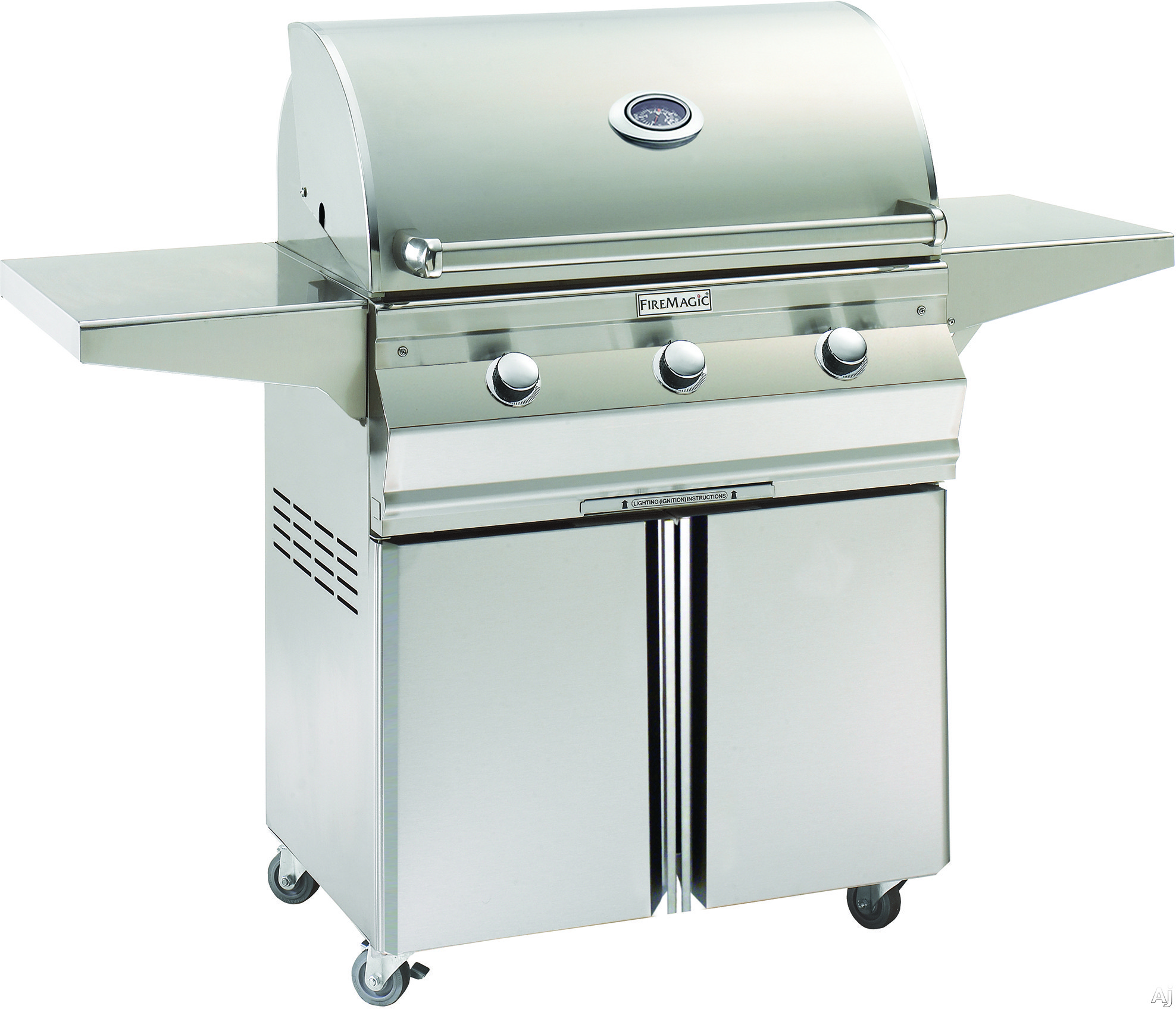 Image of Fire Magic Choice Collection C540S 58 Inch Freestanding Gas Grill with 540 sq. in. Cooking Surface, 60,000 BTU, Stainless Steel Burners, Stainless Steel Flavor Grids and Analog Thermometer
