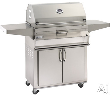 Fire Magic Charcoal Legacy Collection 22SC01C61 56 Inch Charcoal Grill with 432 sq. in. Cooking Area, Warming Rack, Adjustable Charcoal Pan, Smoker Oven and Hood: Freestanding, Smoker Hood, Stainless