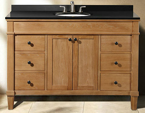 Empire Industries CA48C 48 Inch Contemporary Vanity with Two Door Cabinet and Six Drawers in Cappuccino