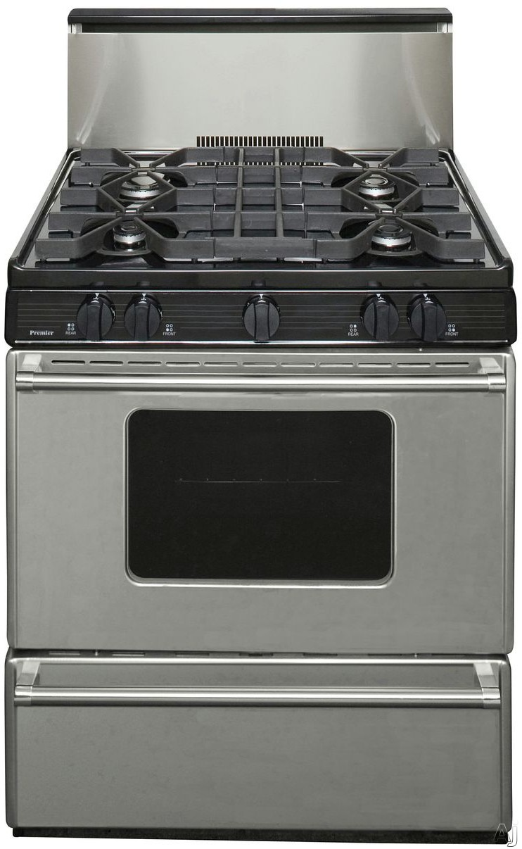 Premier p30s3202p 30 freestanding gas range with 4 sealed for 17000 btu window air conditioner
