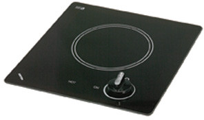 Kenyon Caribbean Series B41606 12 Inch Smoothtop Electric Cooktop with One 6-1/2 Inch Quick-to-Heat Ribbon Element, Push-to-Turn Control and Smooth Clear Black Glass: 240 Volts