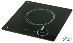 Kenyon Caribbean Series B41605 12 Inch Smoothtop Electric Cooktop with One 6-1/2 Inch Quick-to-Heat Ribbon Element, Push-to-Turn Control and Smooth Clear Black Glass: 120 Volts