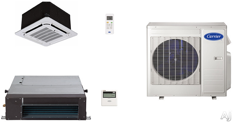 Carrier Performance Series CA18K9 2 Room Mini Split Air Conditioning System with Heat Pump, Inverter Compressor Technology, Basepan Heater and Quiet Operation