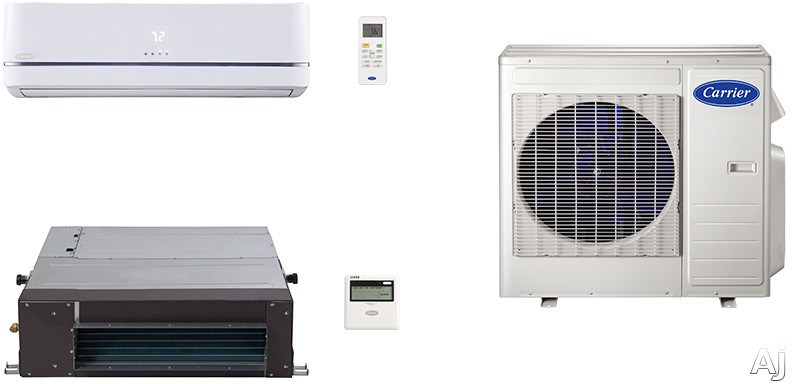 Carrier Performance Series CA18K17 2 Room Mini Split Air Conditioning System with Heat Pump, Inverter Compressor Technology, Basepan Heater and Quiet Operation