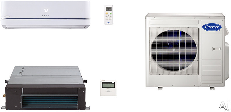 Carrier Performance Series CA27K78 2 Room Mini Split Air Conditioning System with Heat Pump, Inverter Compressor Technology, Basepan Heater and Quiet Operation CA27K78