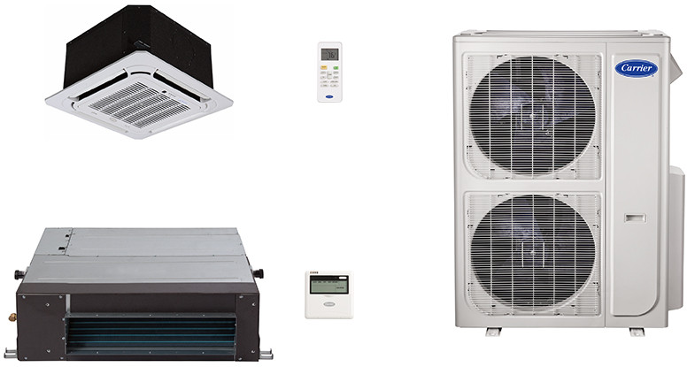 Carrier Performance Series CA36K47 2 Room Mini Split Air Conditioning System with Heat Pump, Inverter Compressor Technology, Basepan Heater and Quiet Operation CA36K47