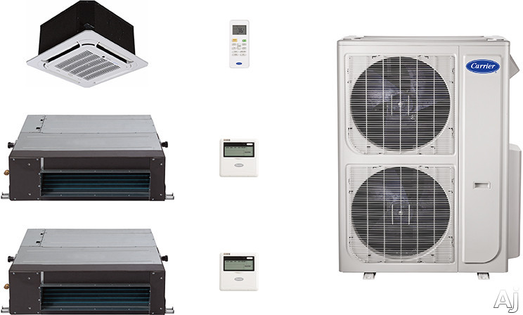 Carrier Performance Series CA36K136 3 Room Mini Split Air Conditioning System with Heat Pump, Inverter Compressor Technology, Basepan Heater and Quiet Operation CA36K136