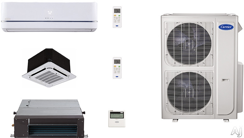 Carrier Performance Series CA36K159 3 Room Mini Split Air Conditioning System with Heat Pump, Inverter Compressor Technology, Basepan Heater and Quiet Operation CA36K159