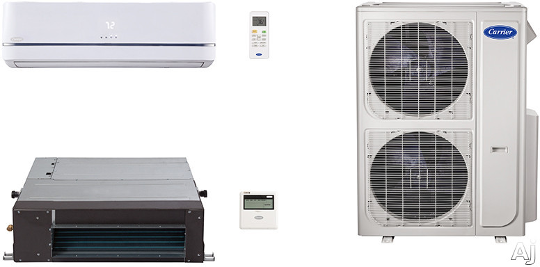 Carrier Performance Series CA36K301 2 Room Mini Split Air Conditioning System with Heat Pump, Inverter Compressor Technology, Basepan Heater and Quiet Operation CA36K301