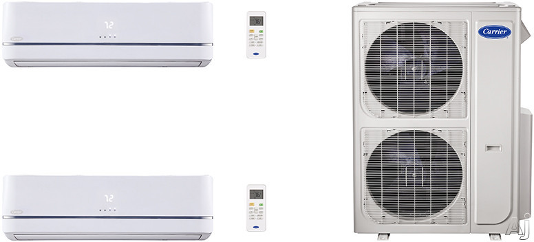 Carrier Performance Series CA36K385 2 Room Mini Split Air Conditioning System with Heat Pump, Inverter Compressor Technology, Basepan Heater and Quiet Operation CA36K385